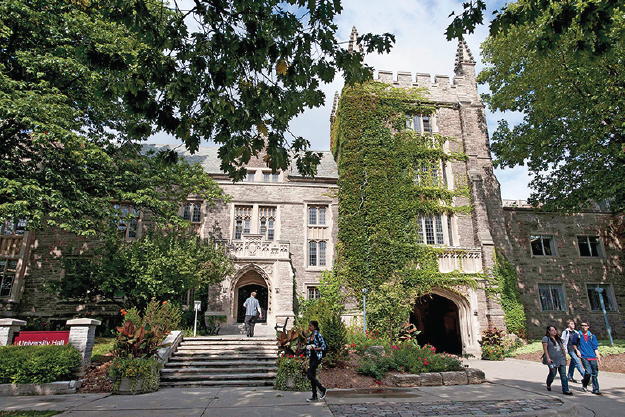 University hall exterior